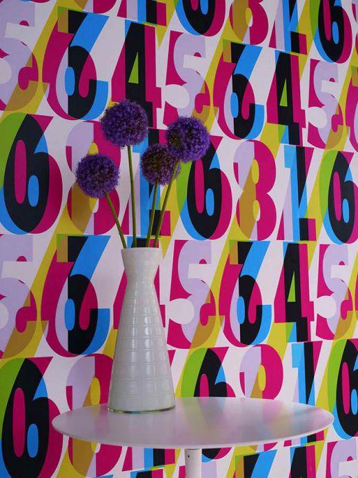 Archiv Papel pintado Galvin multicolor Ver habitación