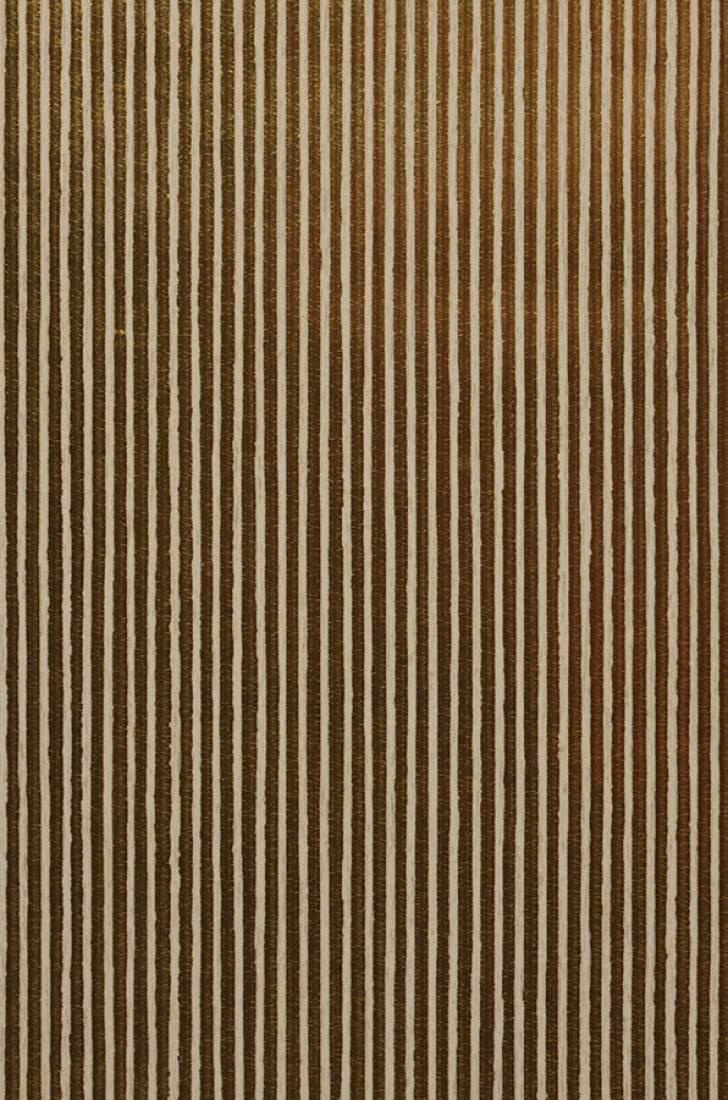 Papier peint isidor brun or jaune blanc cr me papier peint des ann es 70 - Papier peint annee 70 ...