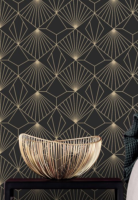 Art Deco Wallpaper Wallpaper Opera black Room View