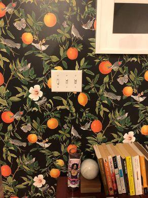 Papel pintado Imari gris negruzco Ver habitación