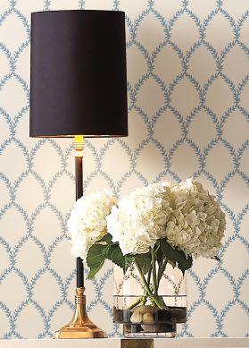 Papier peint Laurelia blanc Raumansicht