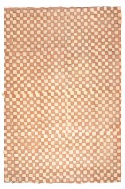Wallpaper Locana Batik Style Hand-printed Matt Shabby chic Plaid Beige Beige brown