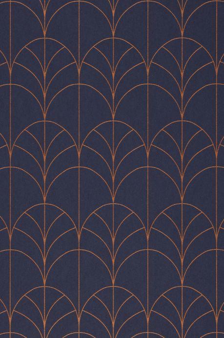 Glamorous wallpaper Wallpaper Ninon sapphire blue A4 Detail