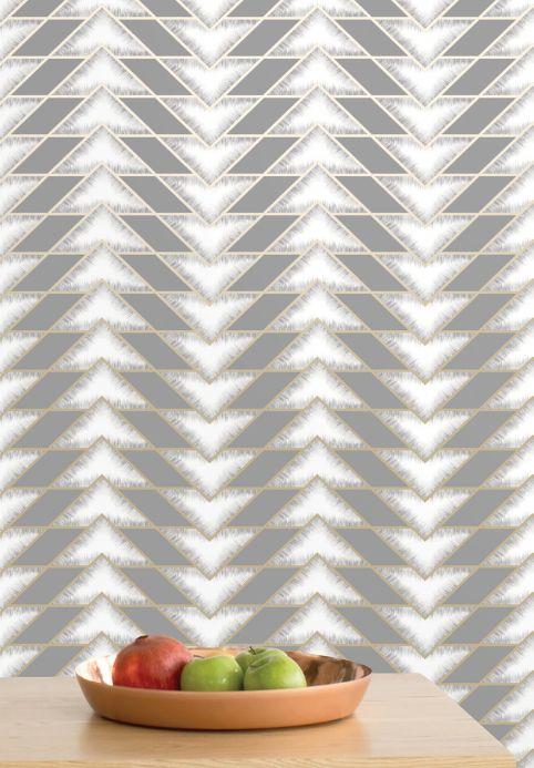 Archiv Papier peint Fantaghiro gris Vue pièce
