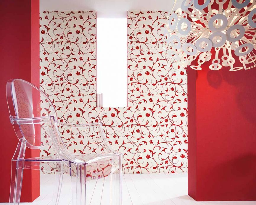 Archiv Wallpaper Cybele red Room View