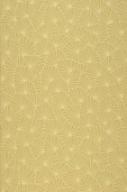Wallpaper Elma Hand printed look Matt Graphic elements Sand yellow Light yellow