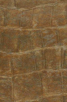 Tapete Croco 14 Olivbraun A4-Ausschnitt
