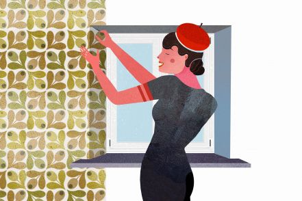 How to apply wallpaper around windows and doors