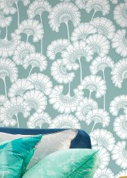 Wallpaper Ornate mint turquoise