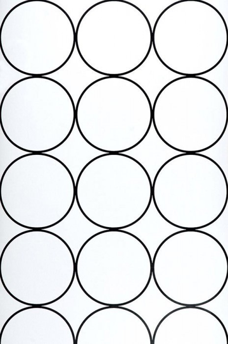 Wallpaper Calypso Matt Rings White Black lustre