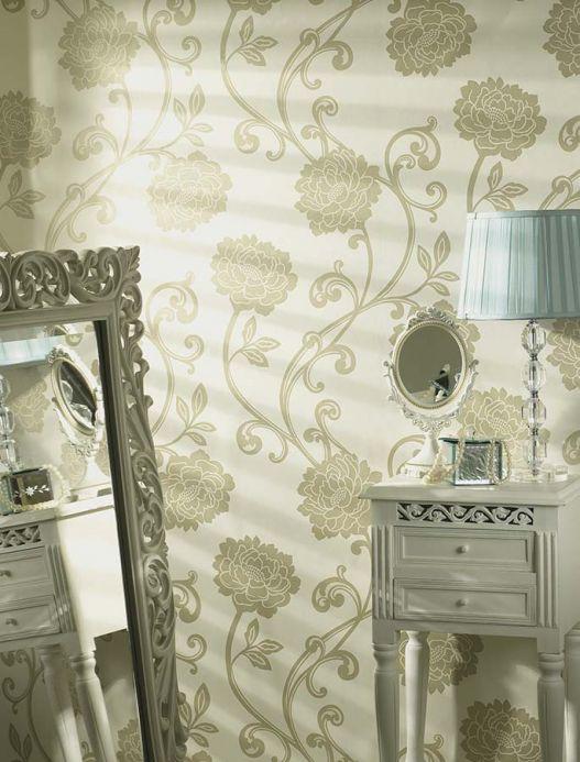 Archiv Wallpaper Antenor beige lustre Room View
