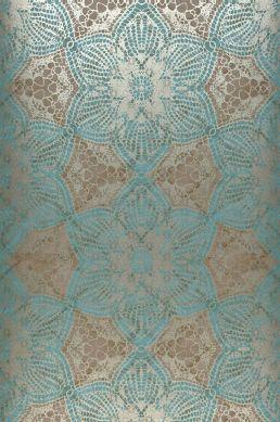 Papel de parede Marrakesh azul turquesa Largura do rolo