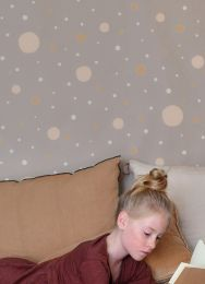 Wallpaper Confetti grey beige