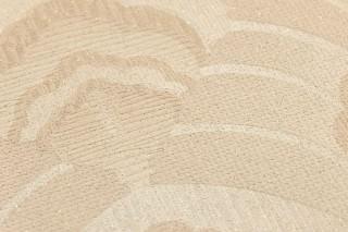 Papier peint Dowida Effet scintillant Mat Damassé art nouveau Ivoire clair Marron beige clair chatoyant Beige brun clair chatoyant