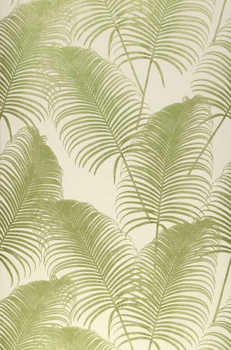 Papel pintado botánico Papel pintado Milva verde claro brillante Ancho rollo