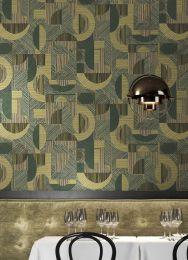 Wallpaper Paseo reed-green shimmer