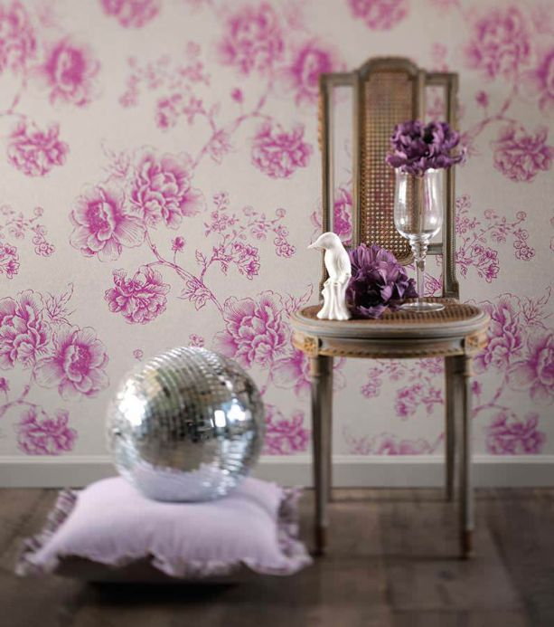 Archiv Wallpaper Isimud heather violet Room View
