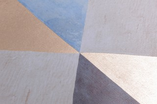 Wallpaper Jerom Matt Squares Trapezoids Shades of blue Pearl beige White brown
