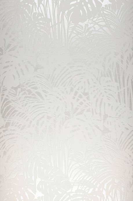 Carta da parati floccata Carta da parati Persephone bianco crema Larghezza rotolo
