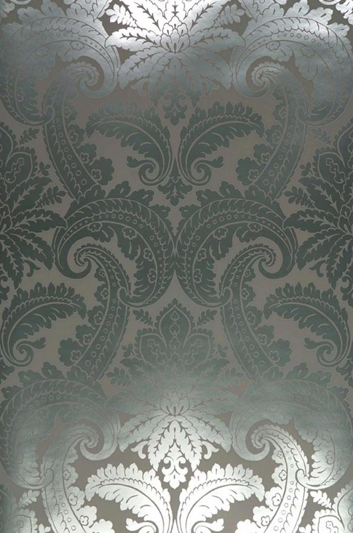 Papel pintado nemesis gris plata lustre papeles de los 70 - Papeles pintados de los 70 ...