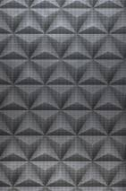 Wallpaper Merida Matt Graphic elements Grey Black