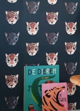 Papel pintado Panthera 02 negro Ver habitación