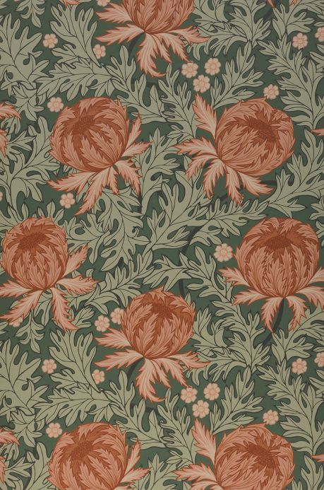 Floral Wallpaper Wallpaper Ardassa fawn brown Bahnbreite