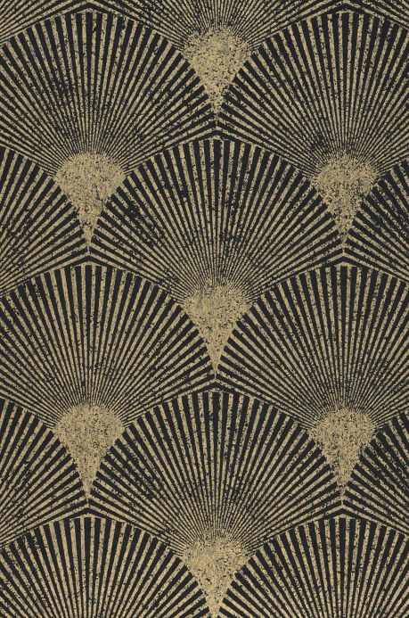 Glamorous wallpaper Wallpaper Helene black grey A4 Detail