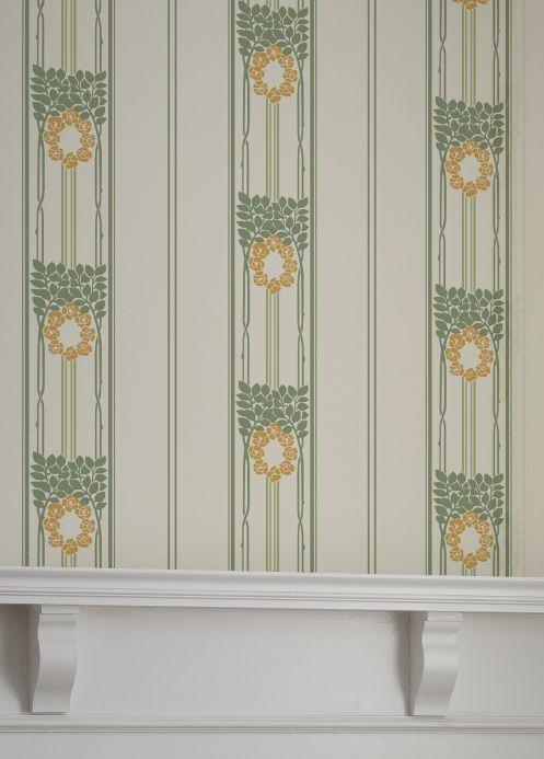 Art Nouveau Wallpaper Wallpaper Imke yellow orange Room View