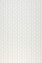 Wallpaper Leya Hand printed look Matt Plait Pattern Light grey Cream