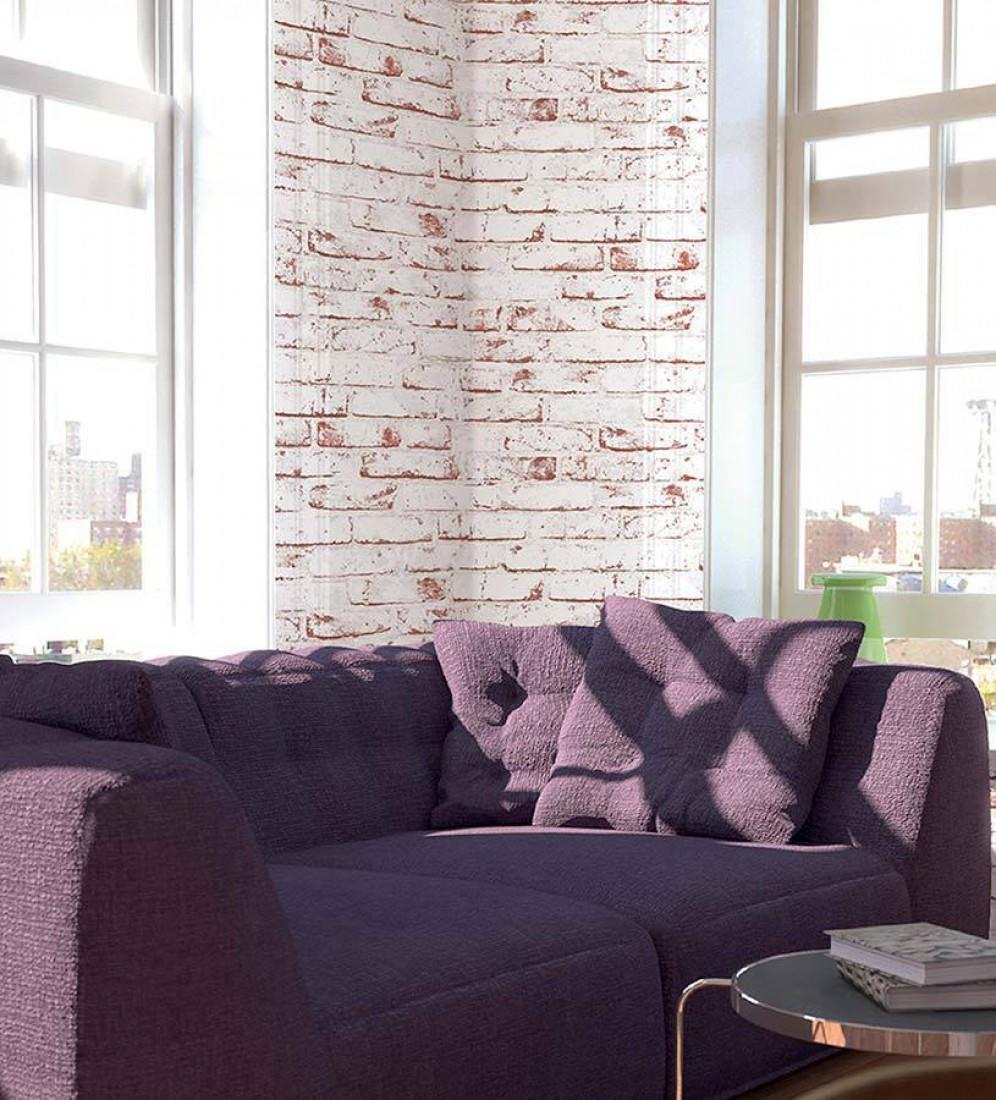 killa weiss braunweiss ziegelrot tapeten neuheiten tapetenmuster tapeten der 70er. Black Bedroom Furniture Sets. Home Design Ideas