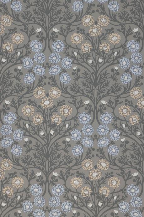 Papier peint floral Papier peint Pelage gris quartz Bahnbreite