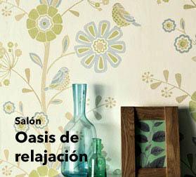 Papel pintado sal n en nuestra boutique para espacios for Papel pintado salon marron