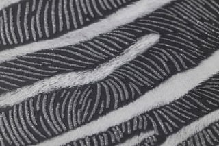 Wallpaper Merula Matt Imitation fur Black grey Grey white