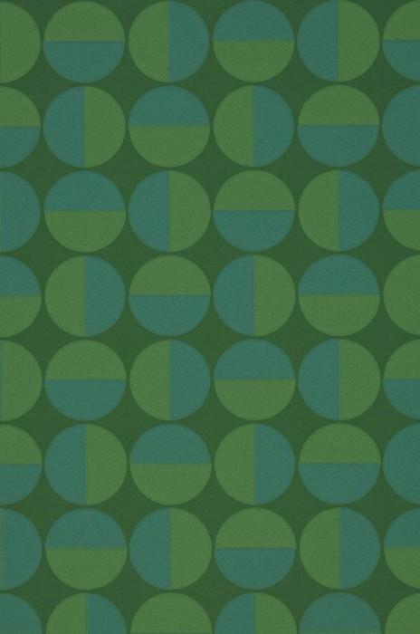 Wallpaper Wahida Matt Geometrical elements Leaf green Blue Green Green