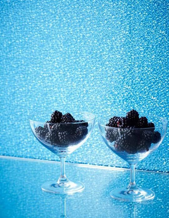 Tapete Kewan Hologramm Effekt Kleine Diamanten Himmelblau Glanz