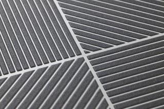 Papier peint Covin Motif mat Surface lustrée Éléments graphiques Blanc crème Gris anthracite