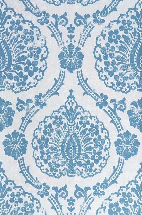Archiv Tapete Fidelia Blau Bahnbreite
