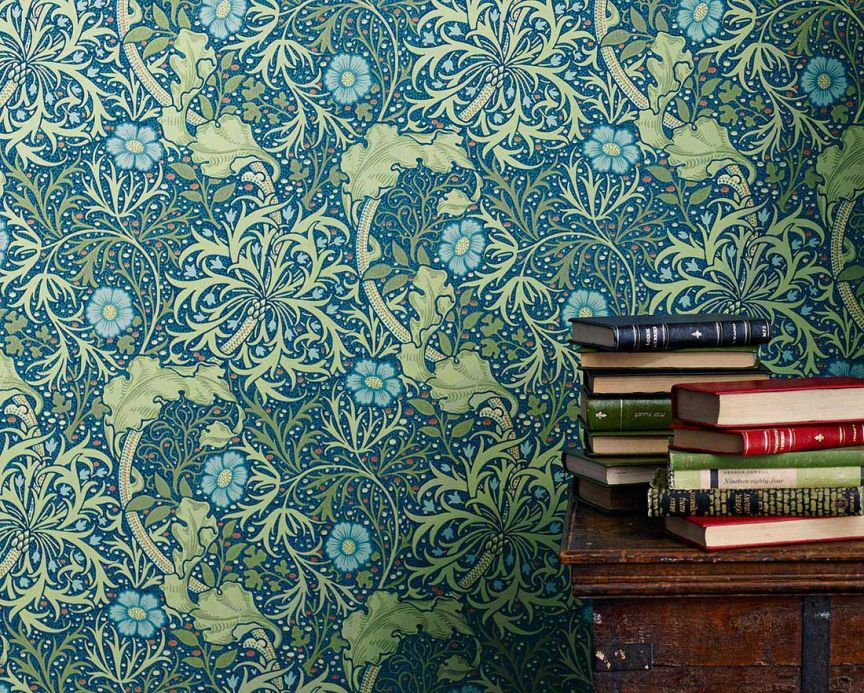 Green Wallpaper Wallpaper Caruso water blue Room View
