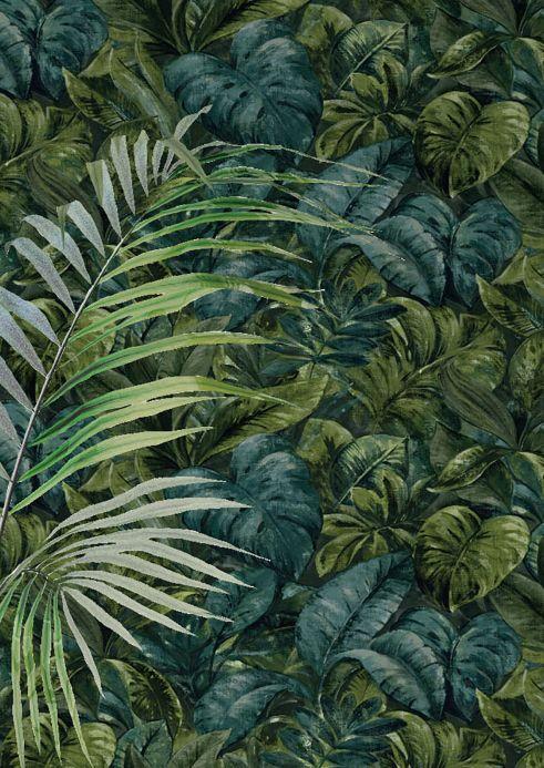 Botanical Wallpaper Wallpaper Hirondelle shades of green Room View