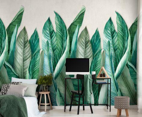 Photo murale Amazonas tons de vert Vue pièce
