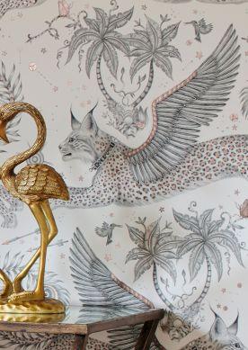 Papier peint Lynx blanc Raumansicht