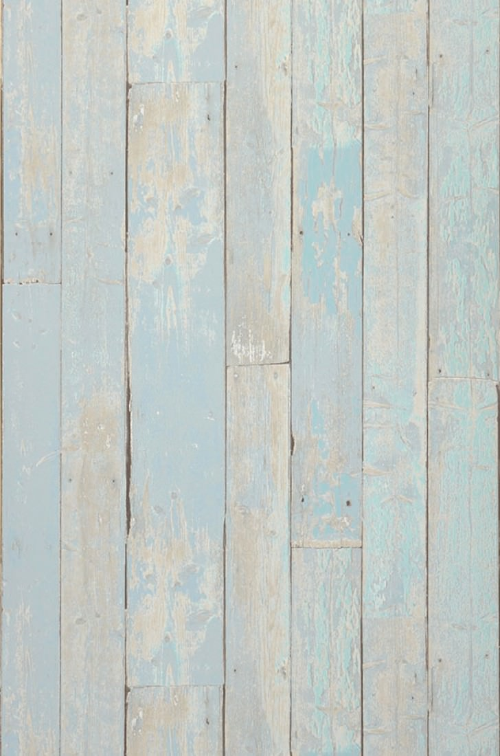 Wallpaper Country Wood (Pale blue, Grey beige, Pastel turquoise ...