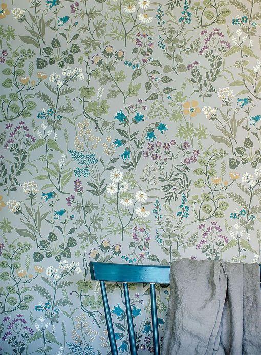 Wallpaper patterns Wallpaper Aislinn light grey Room View
