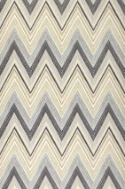 Wallpaper Vasuki Matt Zigzag Anthracite Cream Grey Light ivory Light grey beige