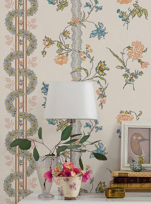 Classic Wallpaper Wallpaper Marion multi-coloured Room View