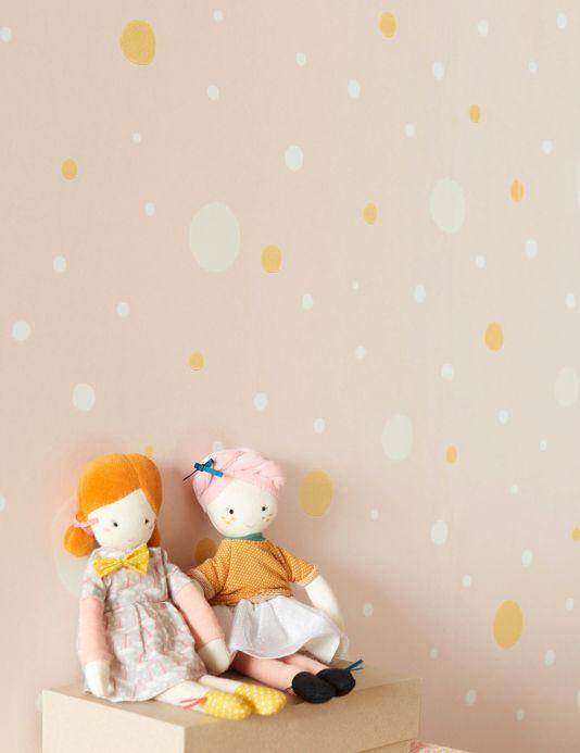 Majvillan Wallpaper Wallpaper Confetti pale pink Room View