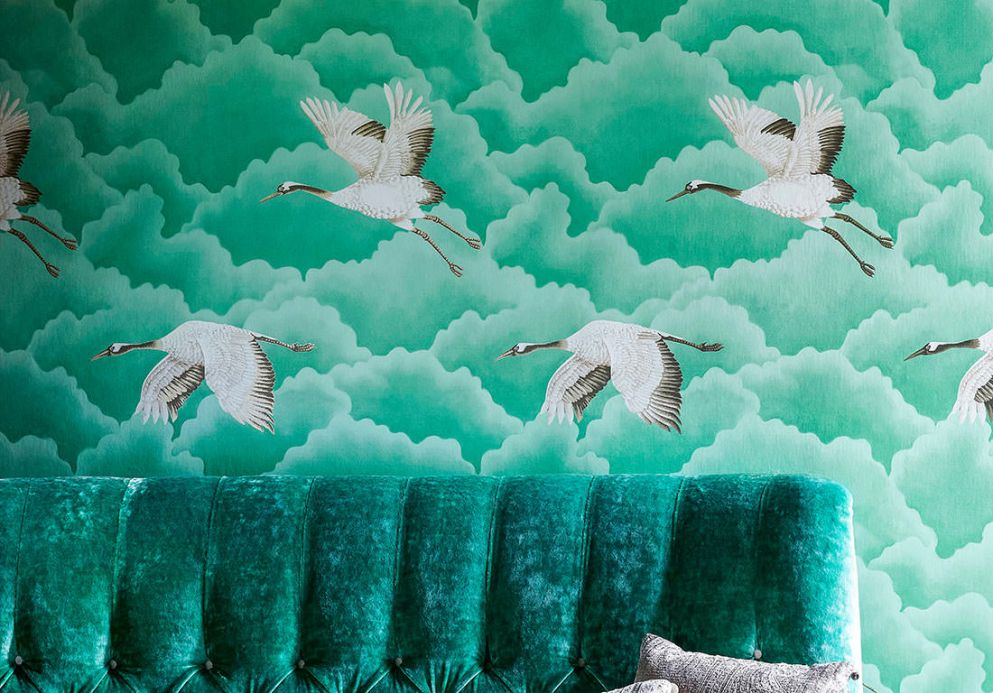 Animal Wallpaper Wallpaper Inola green Room View