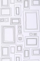 Wallpaper Frames Matt Picture frames White Black