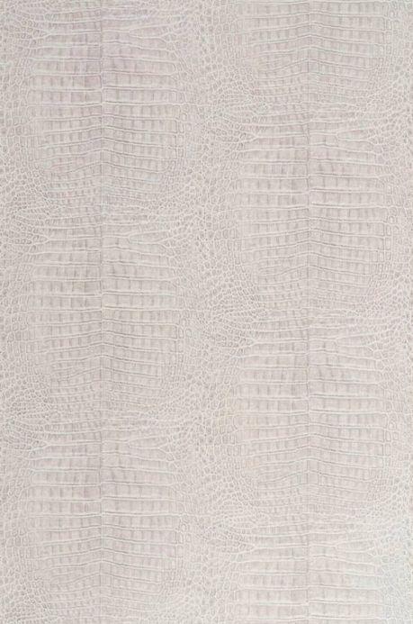 Papier peint imitation cuir Papier peint Alligator gris beige clair  Largeur de lé